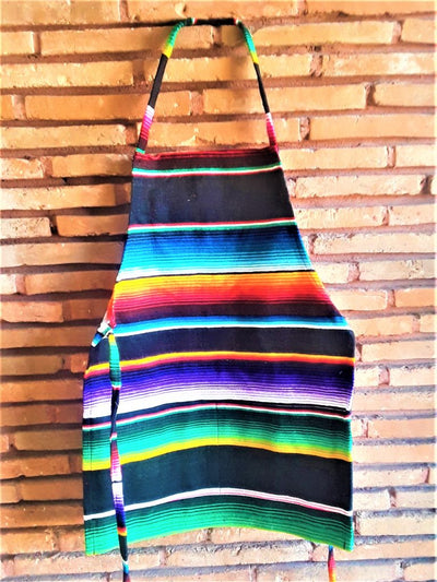 Mexican Serape Fabric Apron