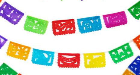Papel Picado - traditional Mexican paper decorations MINI