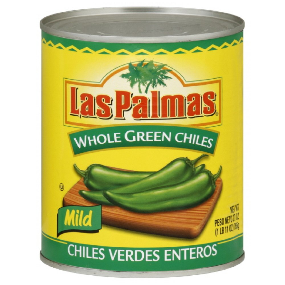 Las Palmas Whole Green Mild Chiles 765gm (11oz)