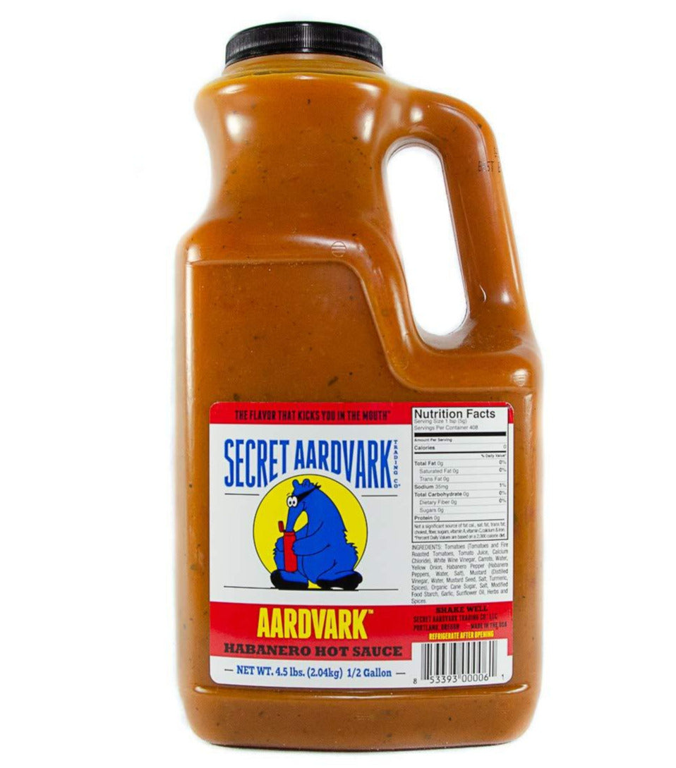 Secret Aardvark Habanero Hot Sauce Half Gallon (1.9lt)