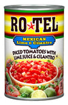 Ro-tel RoTel Diced Tomatos w/Green Chile Lime and Cilantro 283gm (10oz)