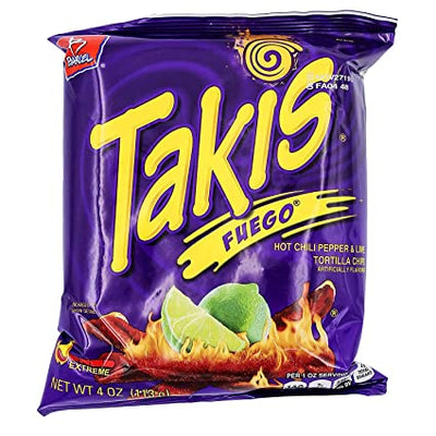 Takis Fuego Chili Pepper and Lime Tortilla Chips 4oz (113gm)