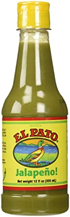 El Pato Green Jalapeno Hot Sauce 12oz (355ml)
