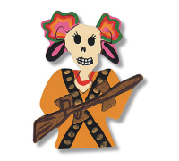Magnet puzzle - Day of the Dead La Adelita Warrior