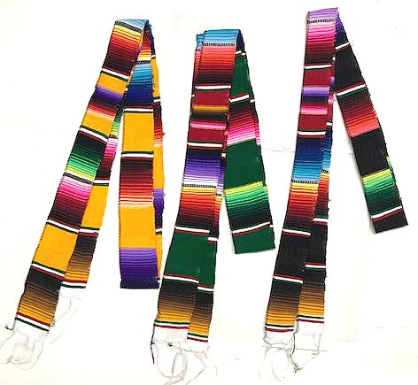 Mexican Serape Fabric Belt