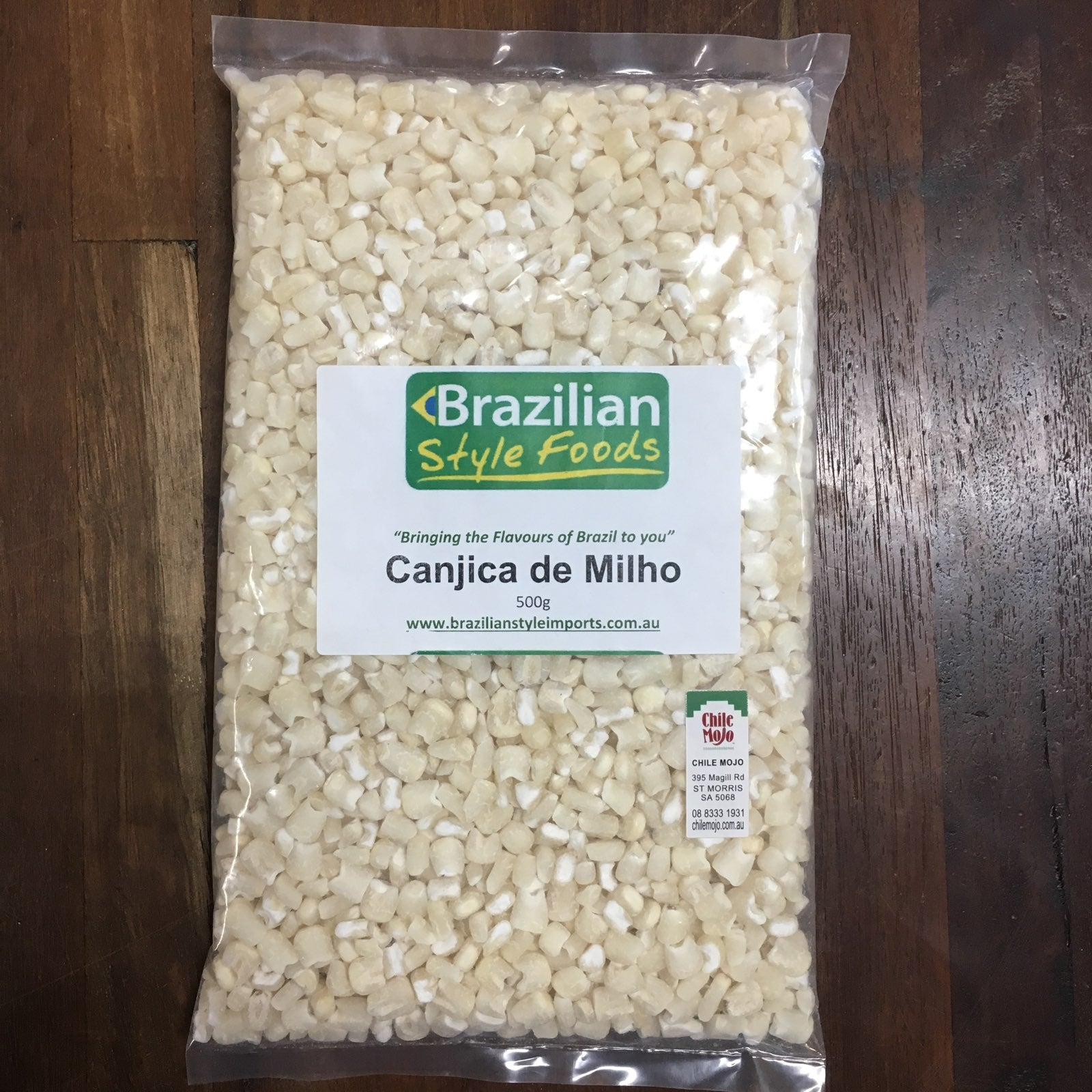 Canjica de Milho Brazilian threshed white maize