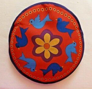 Tortilla Warmer - Blue Birds on Red