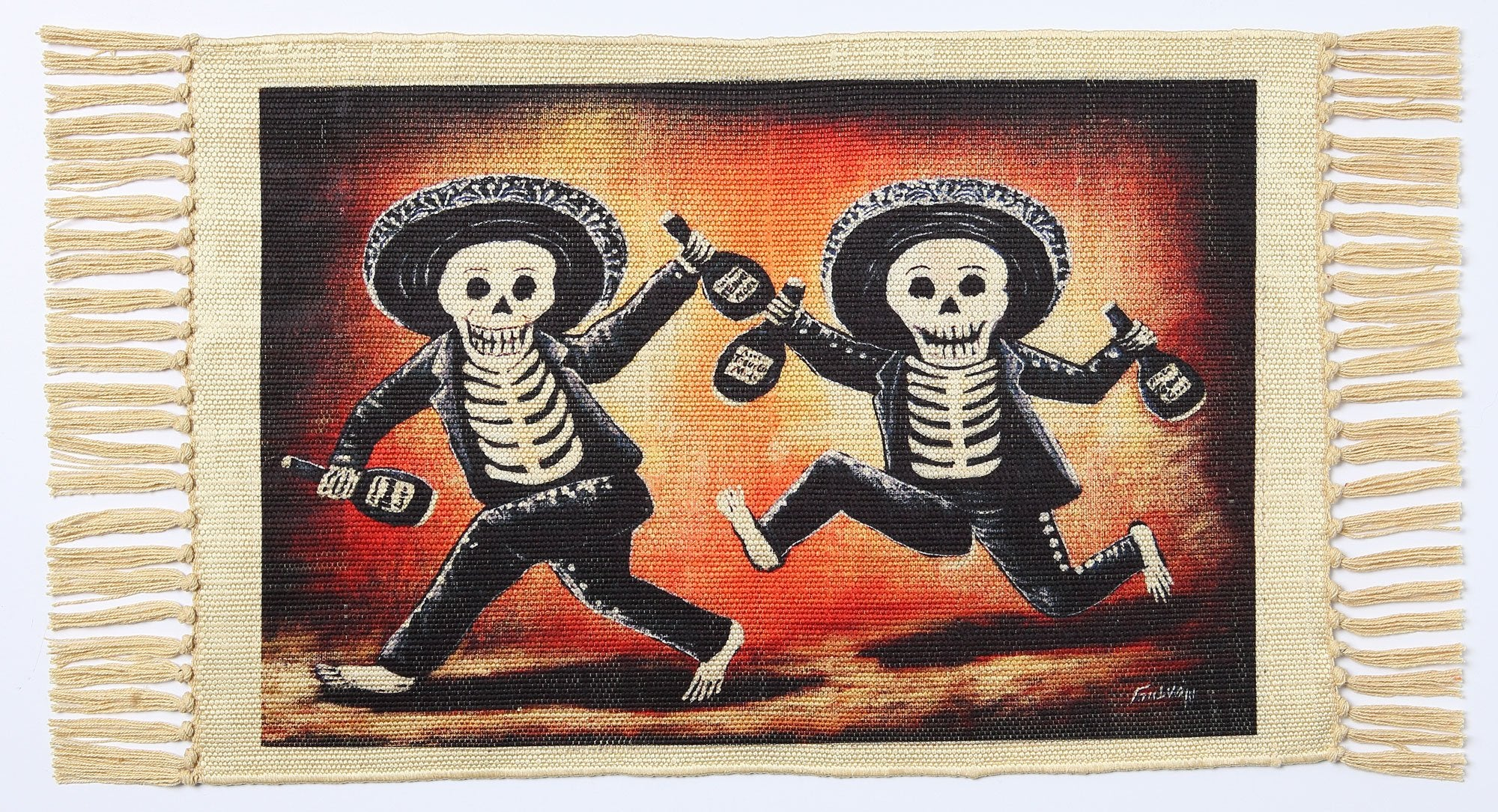 Day of the Dead Placemat - Mariachis on the Run