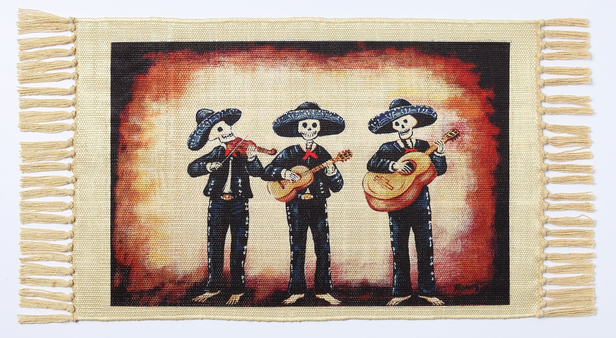 Day of the Dead Placemat - Tres Mariachis