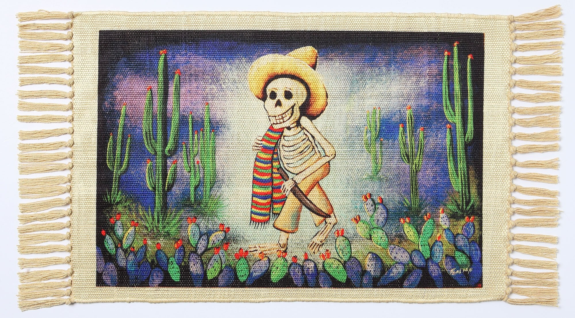 Day of the Dead Placemat - Campesino