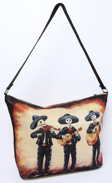 Shoulder Bag Day of the Dead - Tres Mariachis