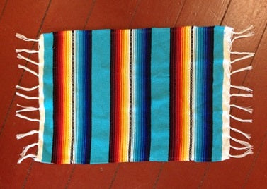 Fringed serape placemat