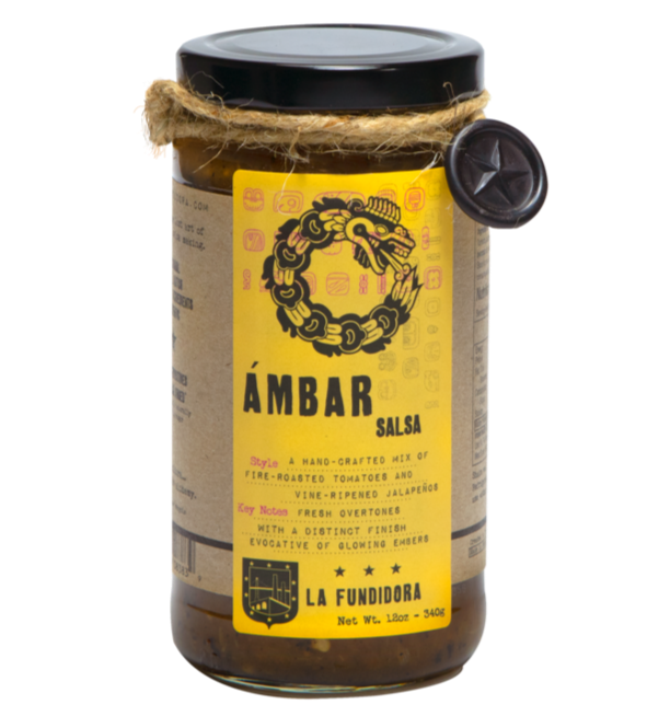 La Fundidora Salsa Ambar - Fire Roasted Tomatos 340gm