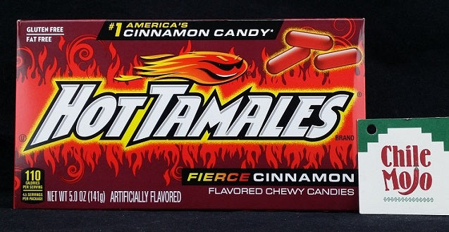 Hot Tamales Fierce Cinnamon Candy 5oz (141gm) BOX