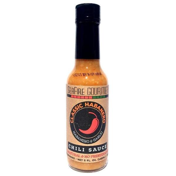 Seafire Gourmet Habanero Garlic Chili Sauce 5oz (148ml)