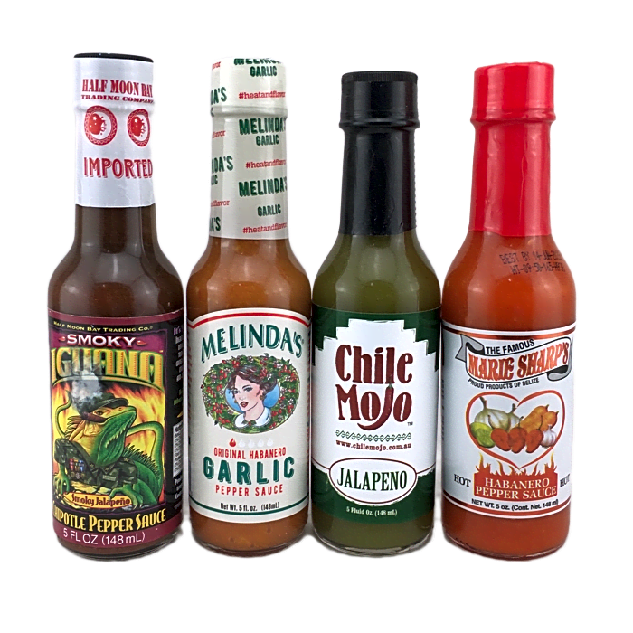 Hot Sauce Collection for those who want flavour but not too much heat
