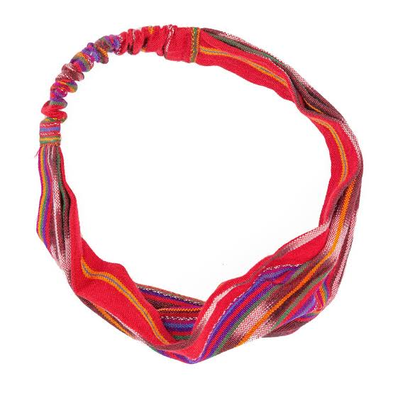 Handmade Serape-striped Head Band from Ecuador