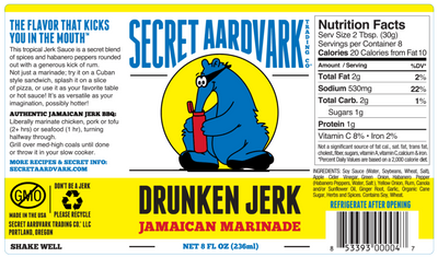Secret Aardvark Drunken Jerk Sauce 236ml (8oz)