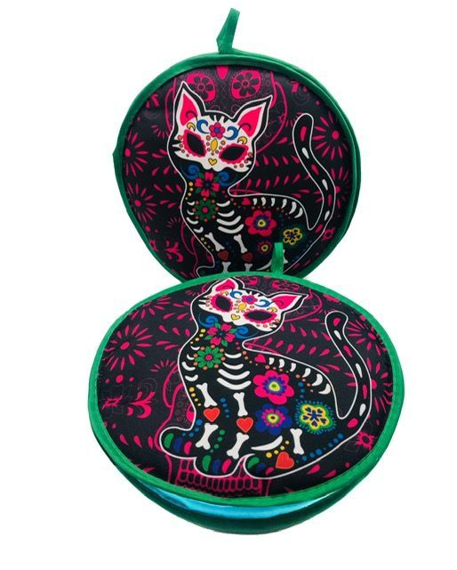 Tortilla Warmer - Day of the Dead Cat