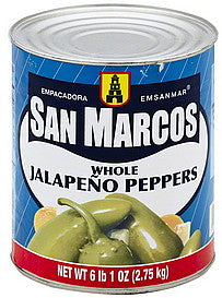 San Marcos Jalapeno whole canned 2.7kg (A10)