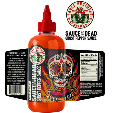 Sauce Brothers Sauce of the Dead Ghost Pepper Sauce 12oz (355ml)