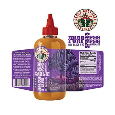 Sauce Brothers Purp Garlic Peri Peri Sauce 12oz (355ml)