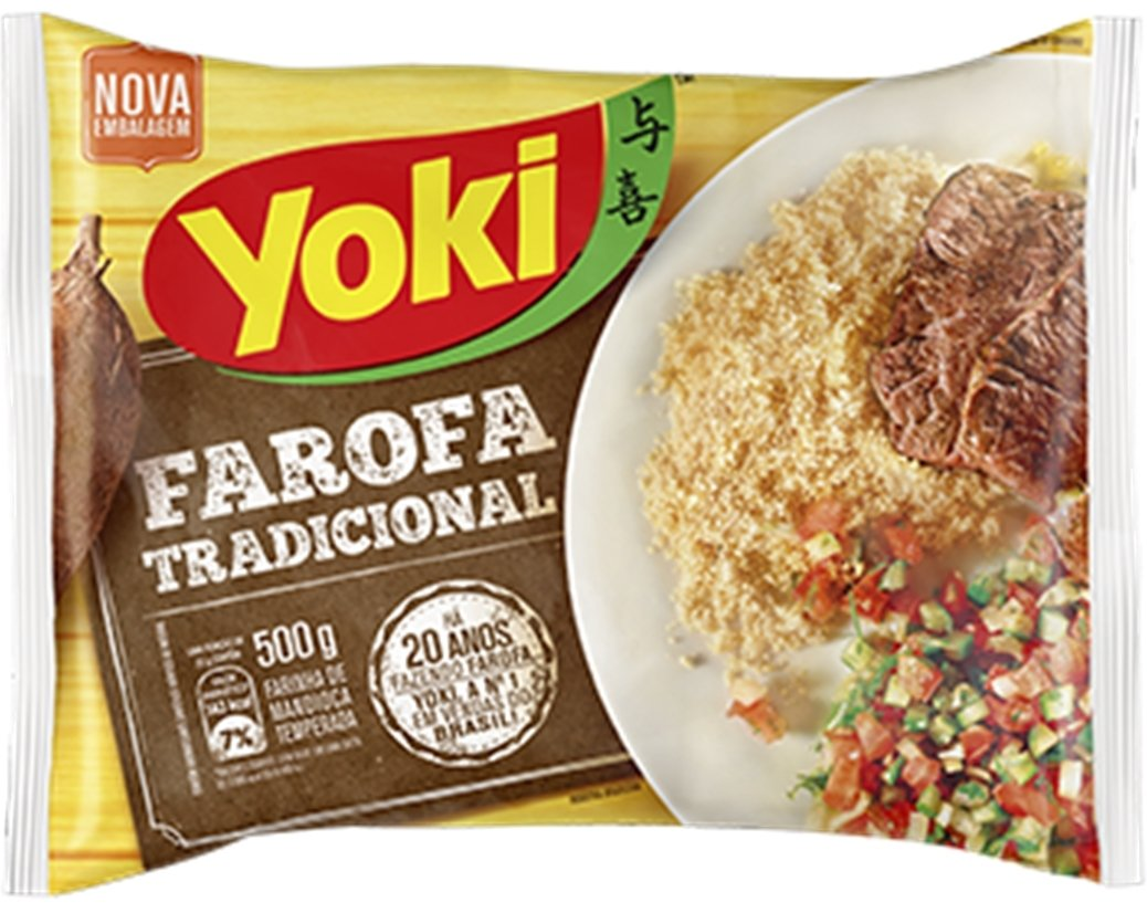 Yoki Farofa Traditional - seasoned cassava flour 500gm