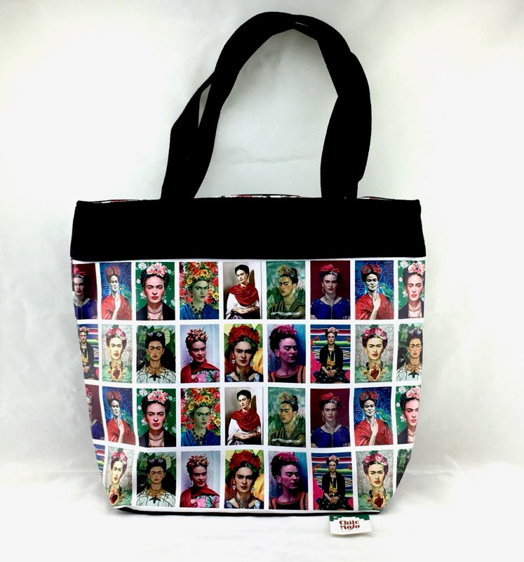 Faces of Frida Kahlo handbag - 36cm x 32cm