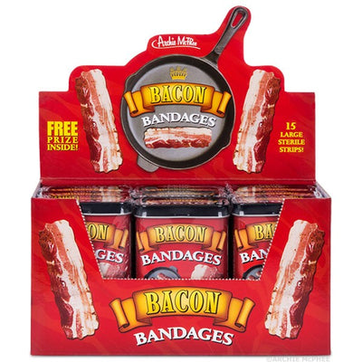 Bacon Bandaids - 12-pack in Metal Tin
