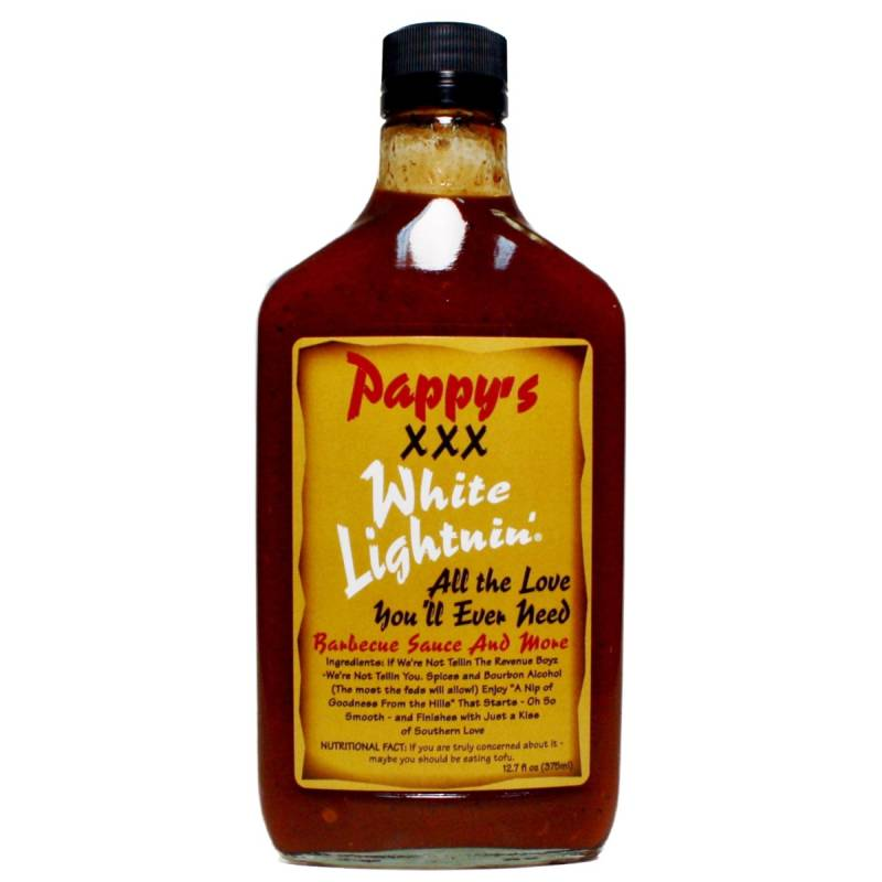 Pappys XXX White Lightnin BBQ 375ml