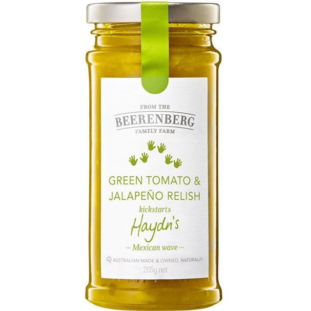 Beerenberg Green Tomato and Jalapeno Relish 265gm