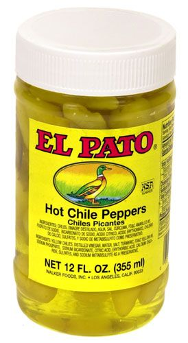 El Pato Hot Yellow Chile Peppers 12oz (340gm)