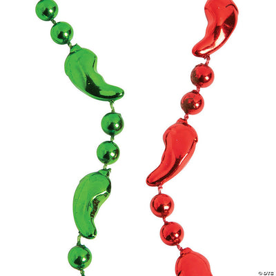 Chile Pepper Bead Necklaces - 3 pack