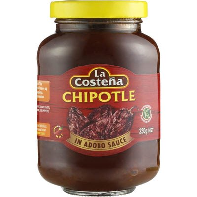 Chiles Chipotle en adobo La Costena JAR 230gm