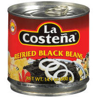 Beans La Costena Black Refried 400gm