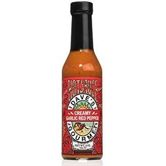 Dave's Gourmet Creamy Garlic Red Pepper Hot Sauce 227gm (8oz
