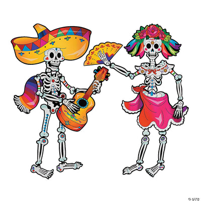 Day of the Dead Couple Jointed Cut-out Decorations