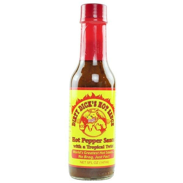 Dirty Dick's Hot Pepper Sauce with Tropical Twist 148ml (5oz)