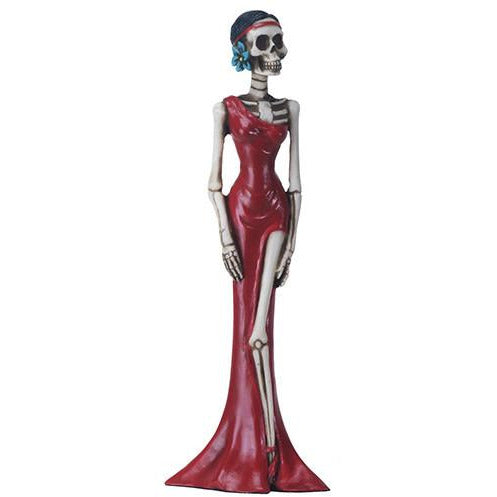 Day of the Dead figurine - slim red lady