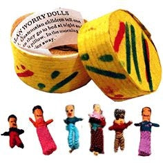Guatemalan Worry Dolls - box with 6 dolls