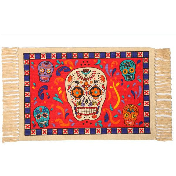 Day of the Dead cotton placemat - Calavera Sugar Skulls