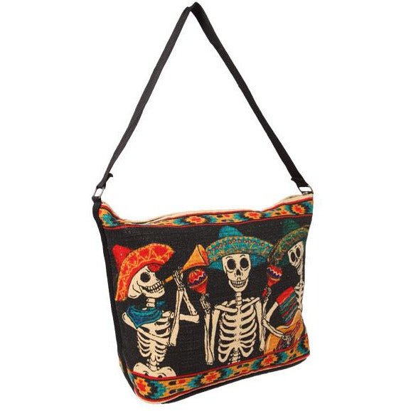 Canvas Shoulder Bag Day of the Dead - 3 Mariachi Musicians