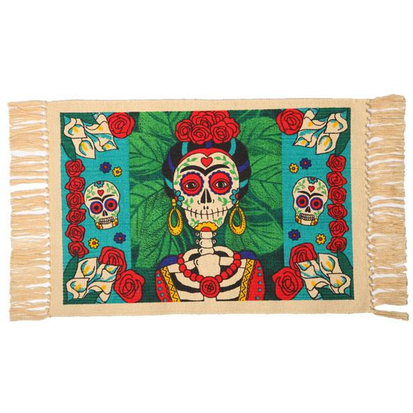 Day of the Dead cotton placemat - Frida Kahlo
