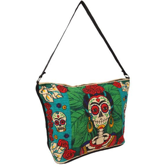 Canvas Shoulder Bag Day of the Dead - Frida Kahlo