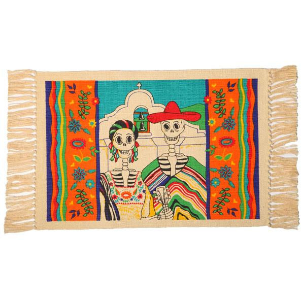 Day of the Dead cotton placemat - Churchgoing Couple