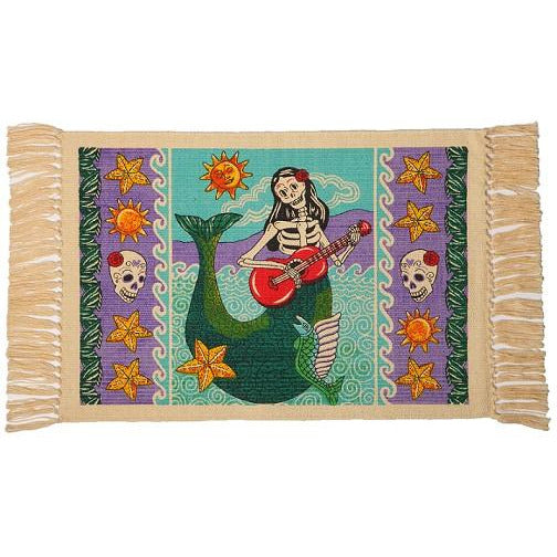 Day of the Dead cotton placemat - Mermaid