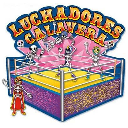 Day of the Dead Luchadores Ring Cardboard Decoration