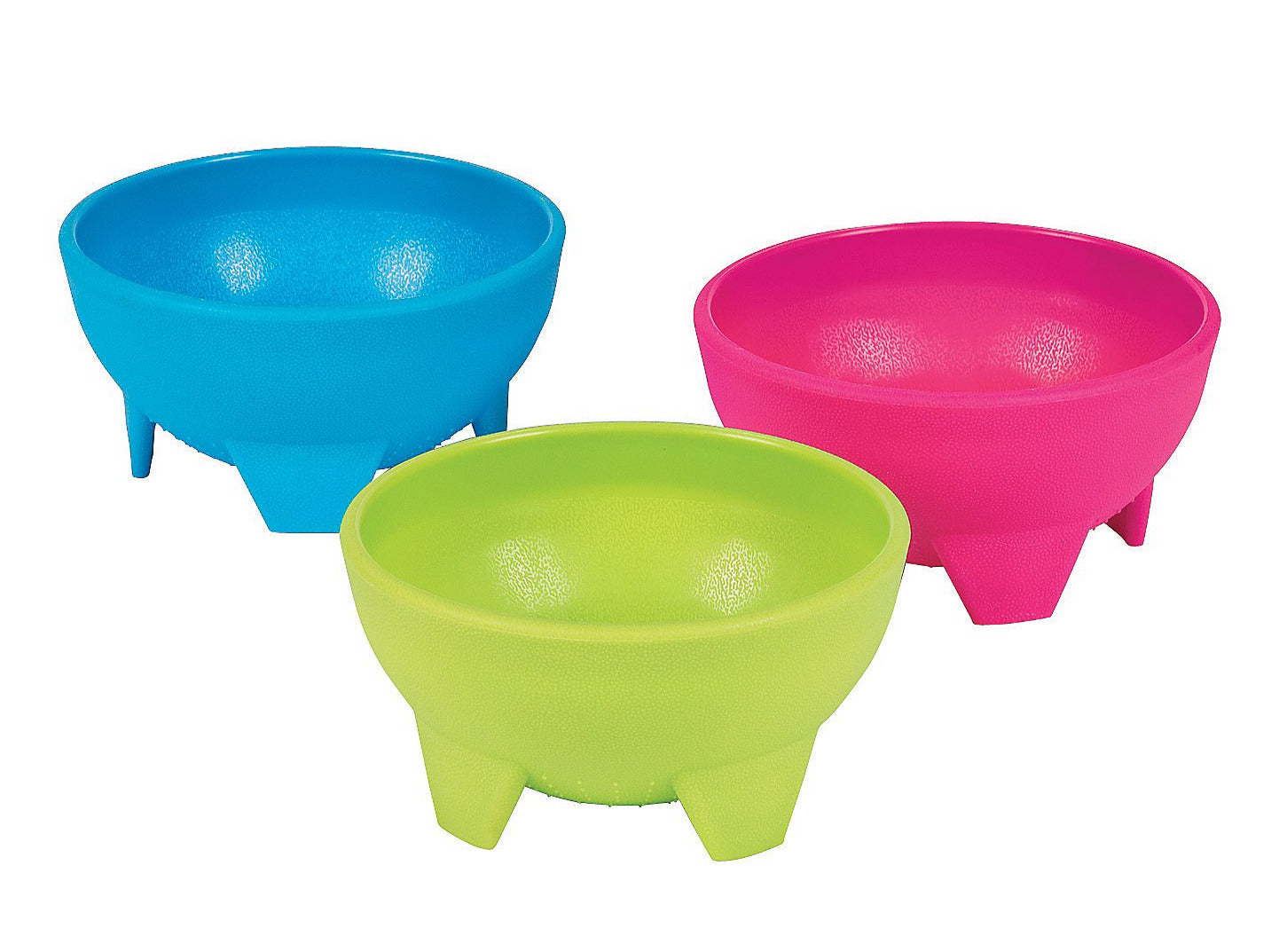 Colourful Plastic Salsa Bowls