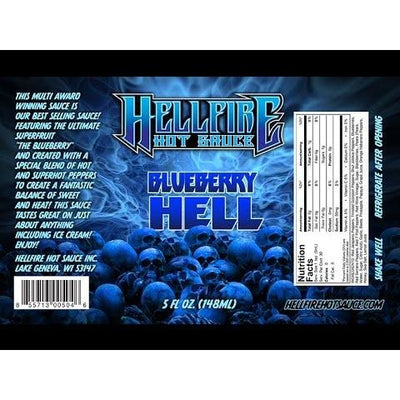 Hellfire Blueberry Hell Hot Sauce 148ml (5oz)