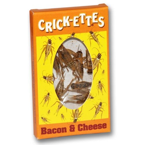 Hotlix Crickettes Bacon and Cheese snack